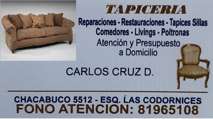 TAPICERIA RESTAURACION  CARLOS CRUZ