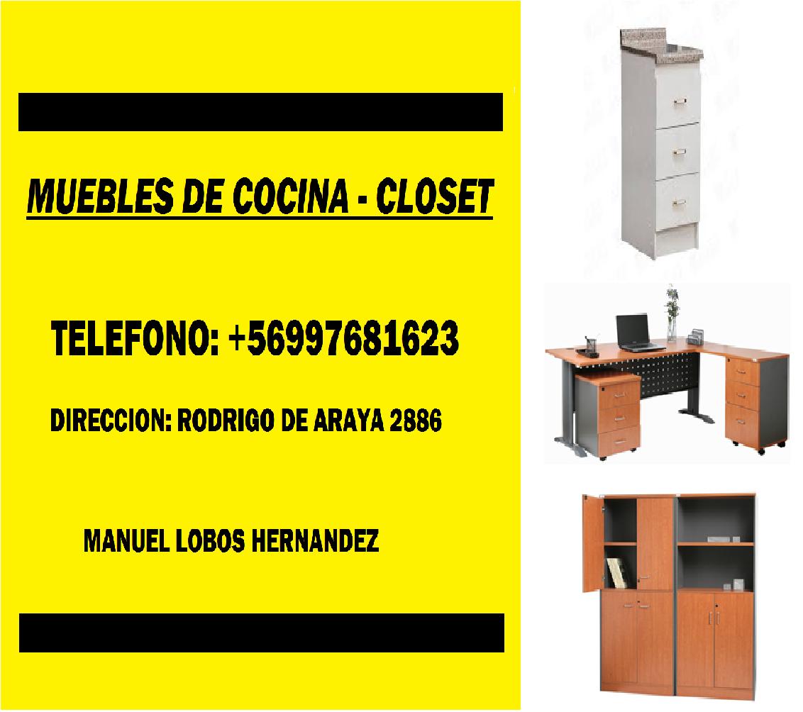 Muebles de cocina closet Macul