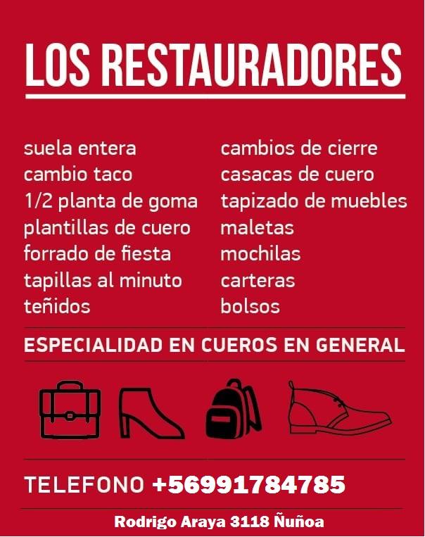 LOS RESTAURADORES reparadora de calzado Ñuñoa Macul