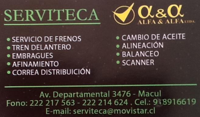 SERVITECA a&a ALFA & ALFA ltda Macul FRENOS