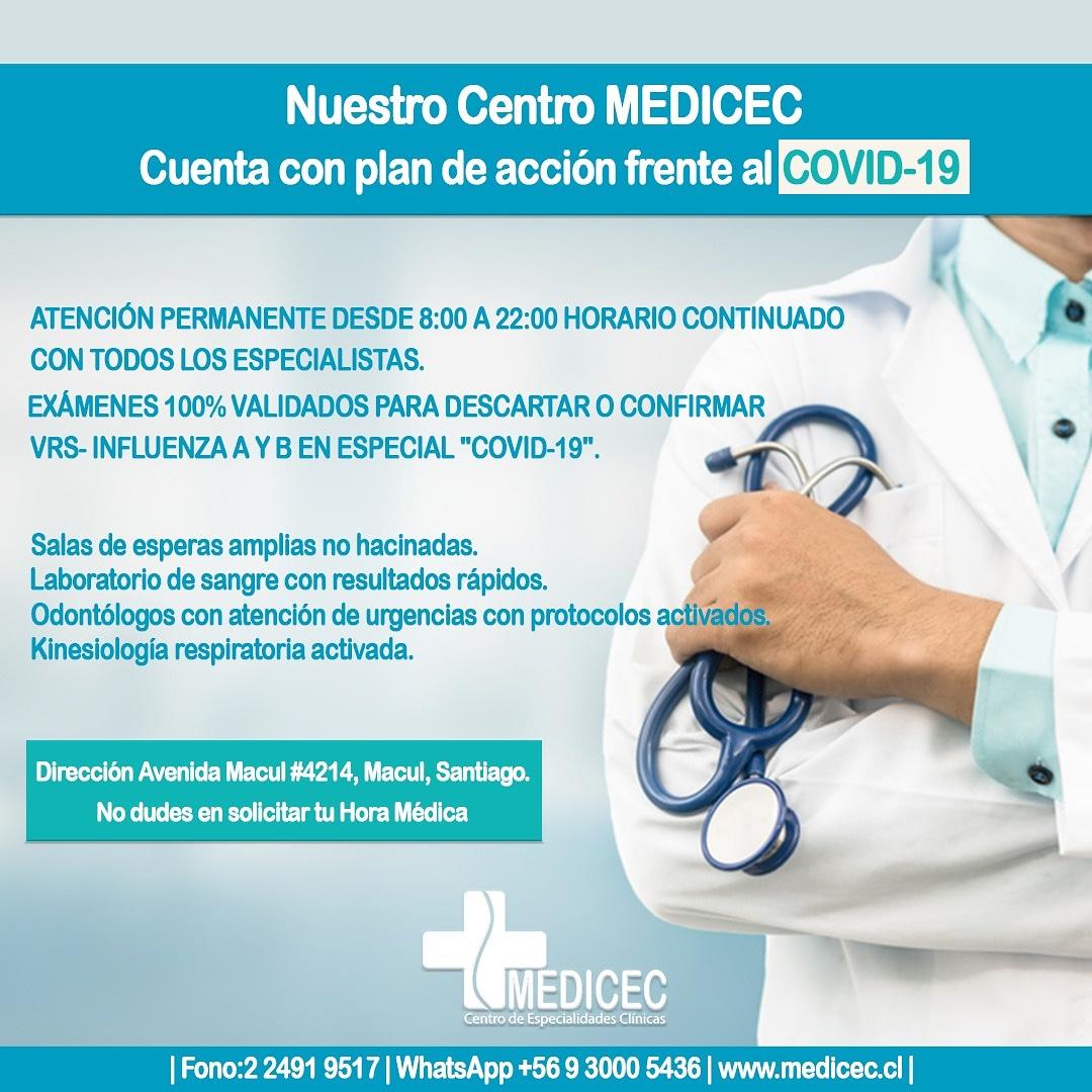 Clinica medicec examen covid 19 Macul